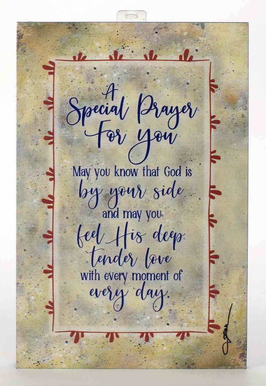 Whispers of the Heart Plaque: A Special Prayer For You... Beige Plaque