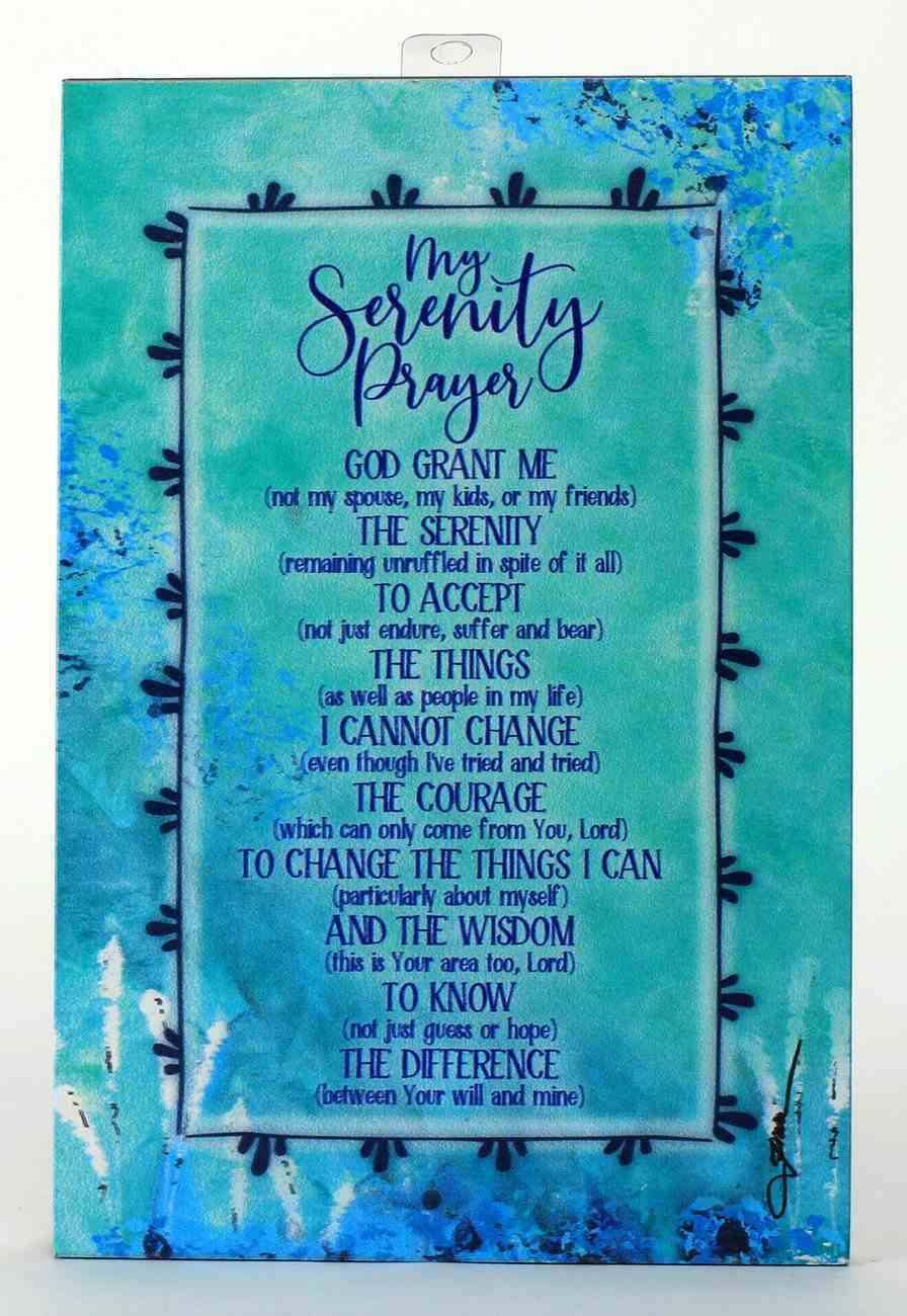Whispers of the Heart Plaque: The Serenity Prayer, Green Plaque