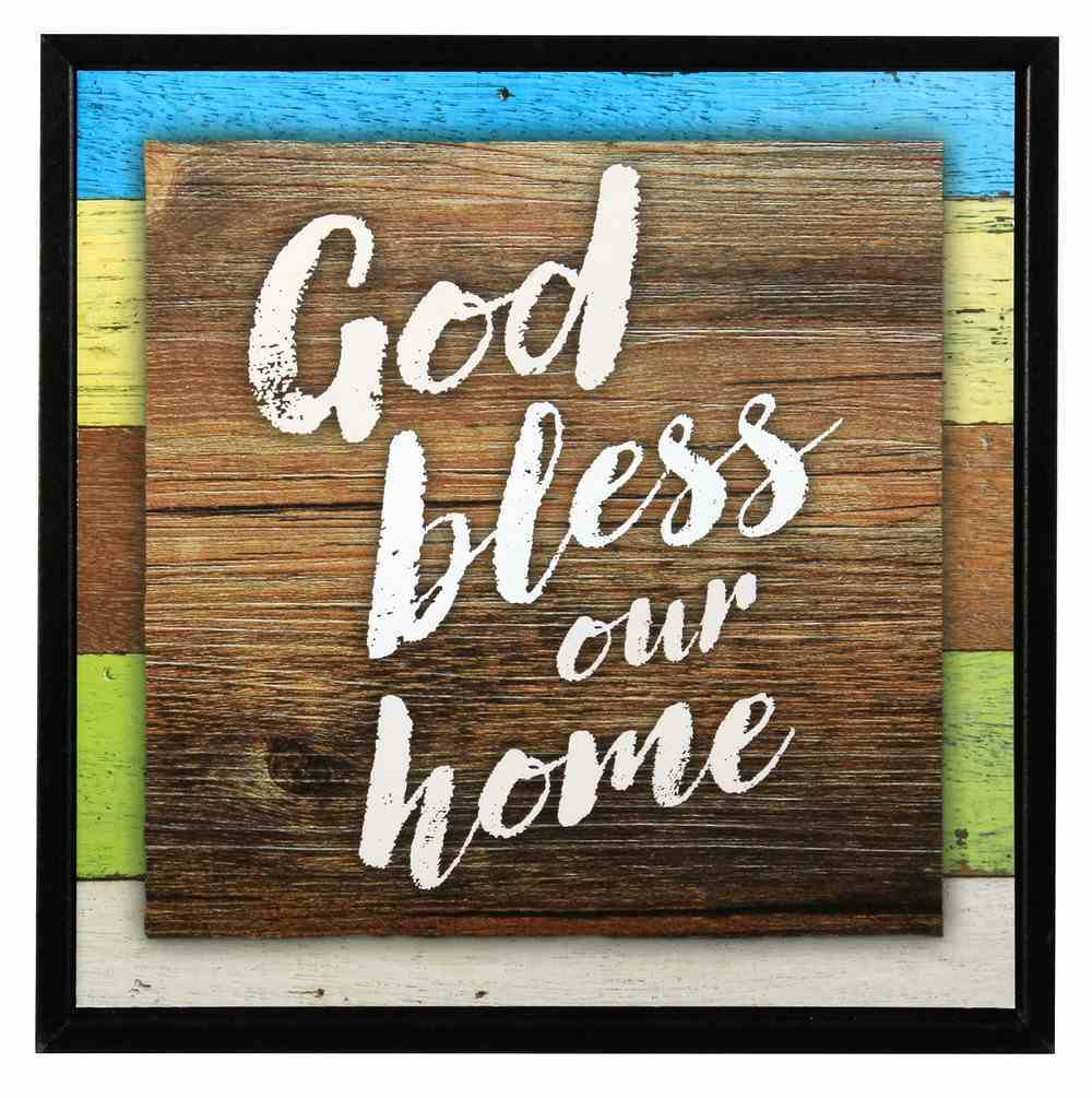 Simple Expressions Plaque: God Bless Our Home Plaque