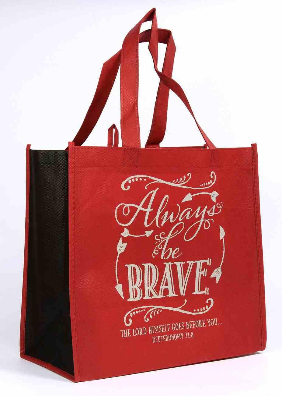 Tote Bag: Always Be Brave (Burgundy) Soft Goods