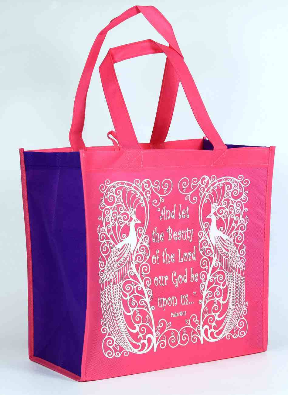 Tote Bag: And Let the Beauty of the Lord Our God Be Upon Us, Pink/White Soft Goods