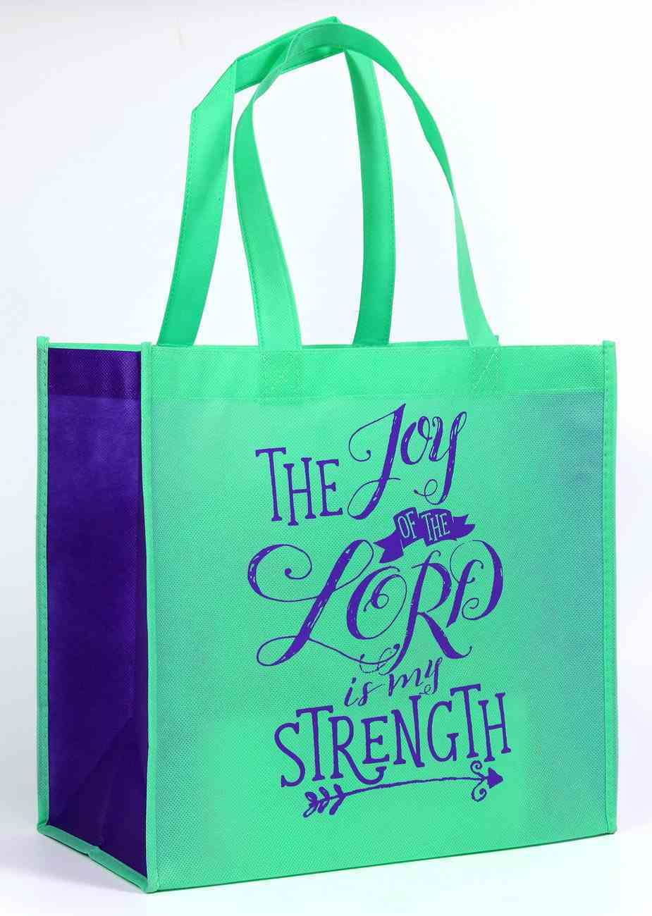 Tote Bag: The Joy of the Lord is My Strength, Light Blue/Blue Soft Goods
