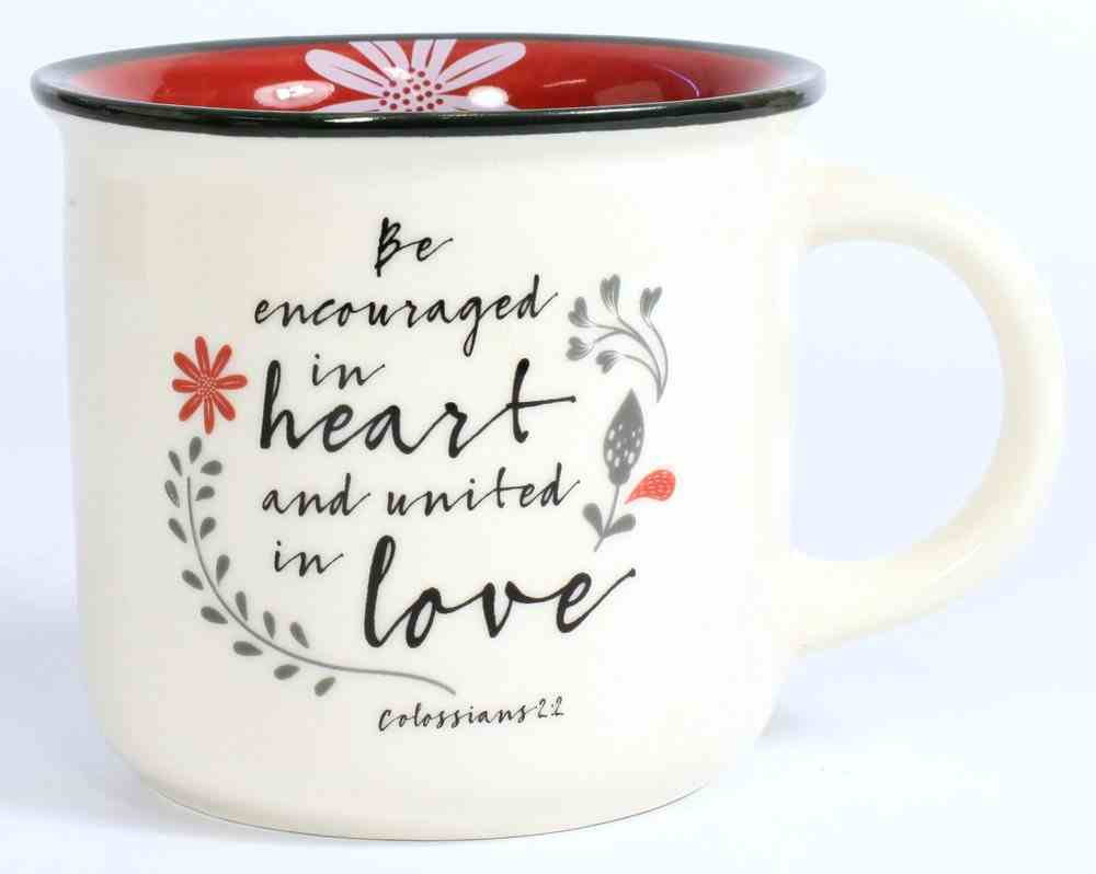 Ceramic Mug Set of 4: Taste and See That the Lord is Good, White/Red/Black (Scribbles Kitchen Collection) Homeware