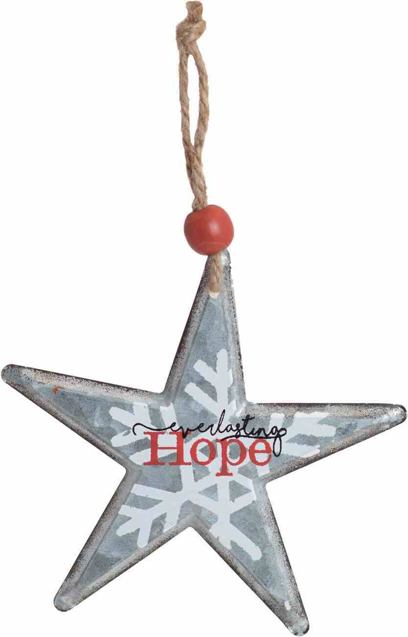 Christmas Metal Star Tree Ornament: Everlasting Hope Homeware