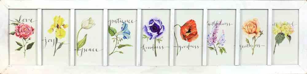 Gracelaced Framed Art Print: Fruits of the Spirit Plaque