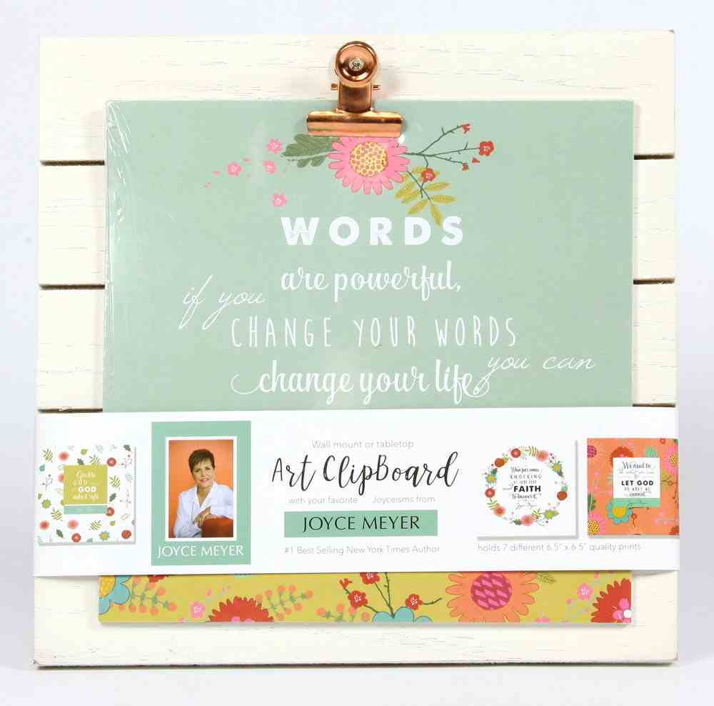 Joyce Meyer Quote Clipboard: Includes 7 Sheets of Joyce's Quotes, Green/White/Yellow Floral Homeware