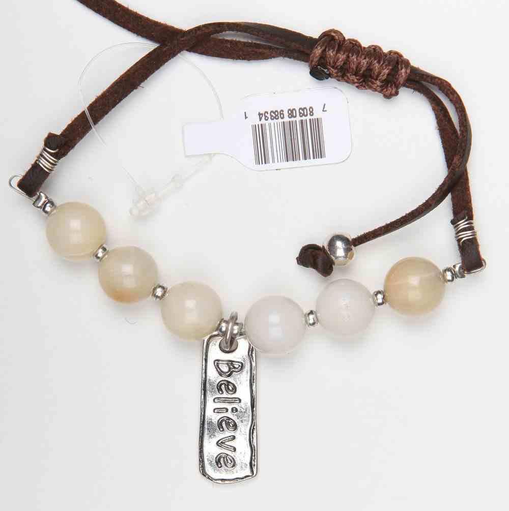 Story Bracelet: Believe, Suede, 20Cm, Sliding Knot Closure Jewellery