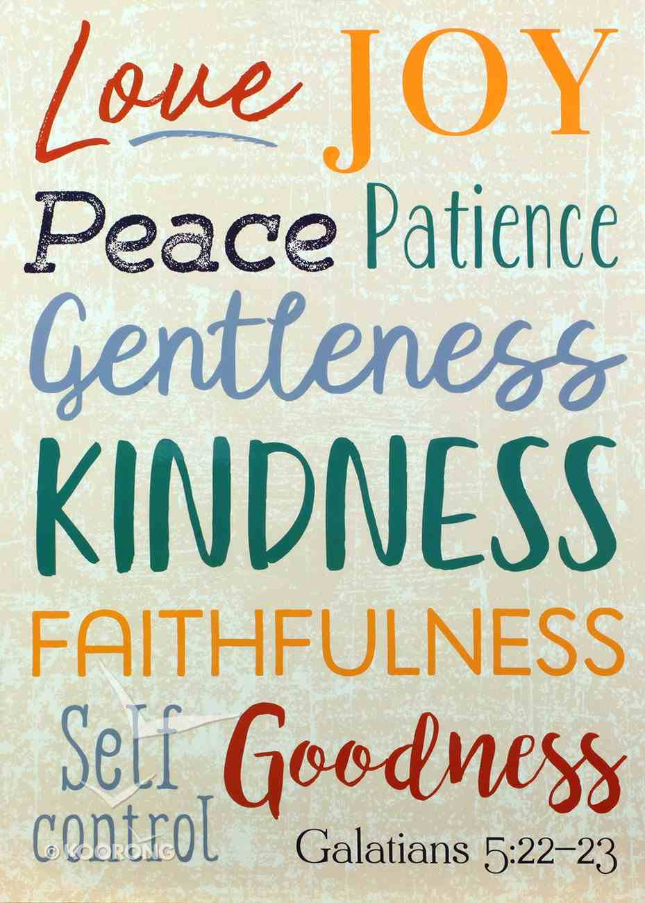 Poster Large: Fruit of the Spirit, Galatians 5:22-23 Poster