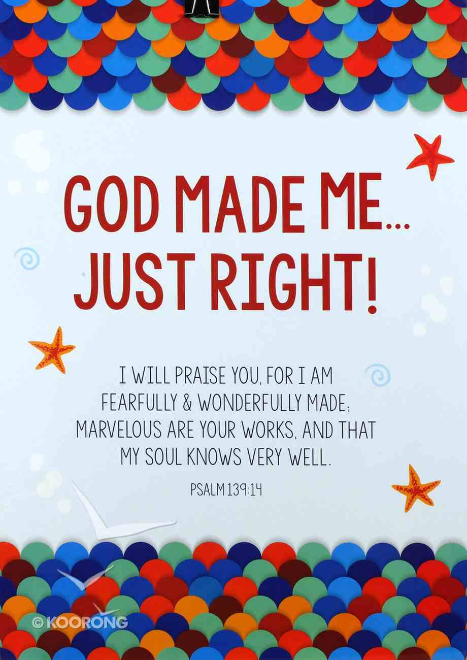 Poster Large: God Made Me Just Right Poster