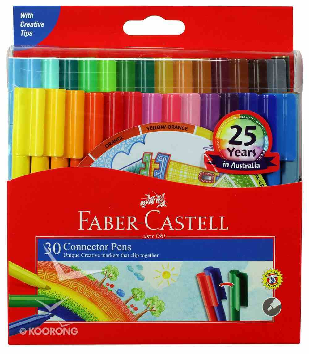 Faber-Castell Connector Pens Markers Wallet of 30 Stationery
