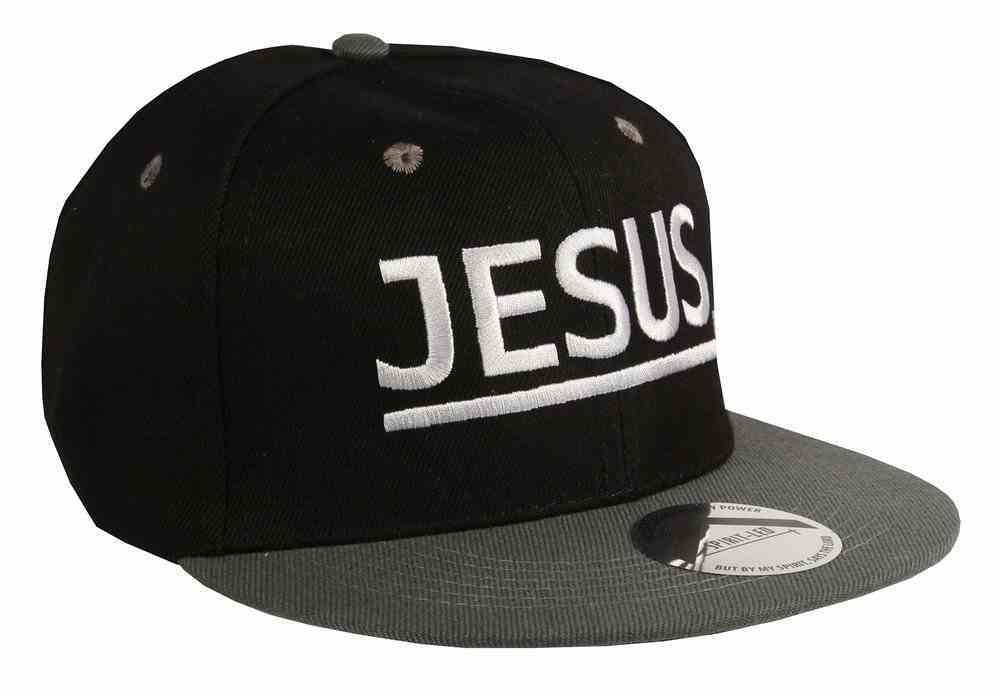 Snapback Cap: Jesus Charcoal/Black Soft Goods