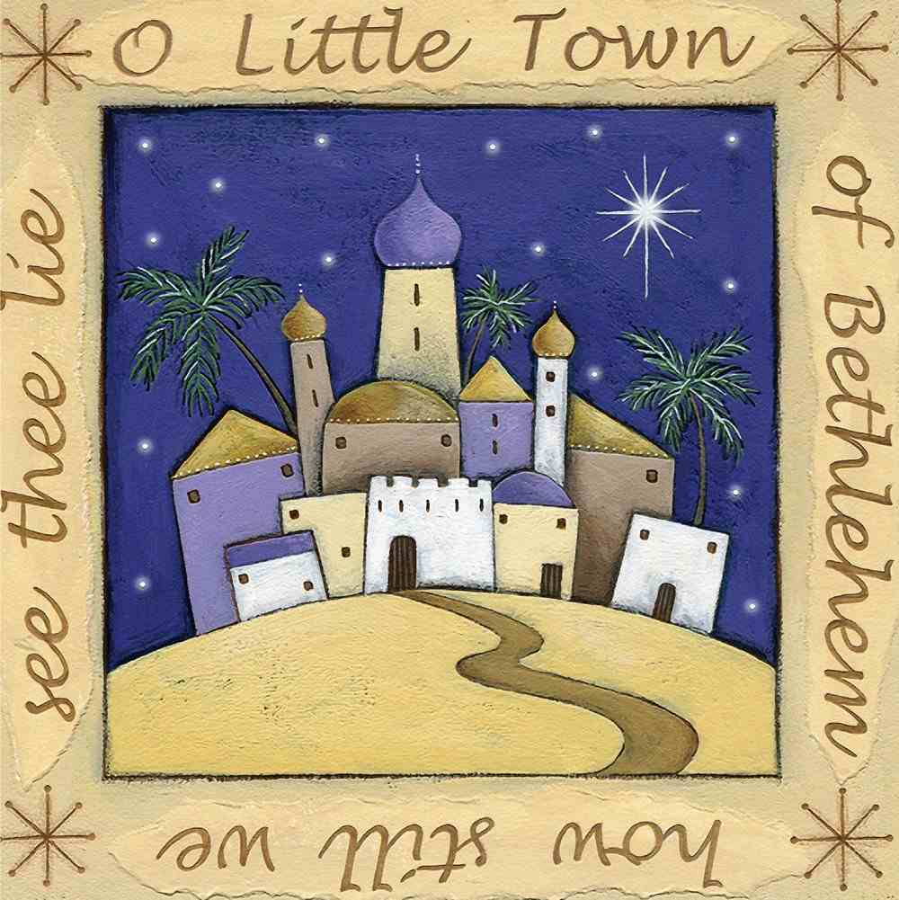 Christmas Boxed Cards O Little Town of Bethlehem How Still We See Thee Lie Box