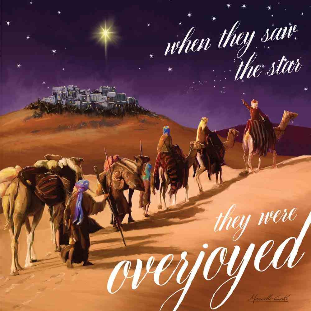 Christmas Boxed Cards Three Wisemen, When They Saw the Star They Were Overjoyed Box