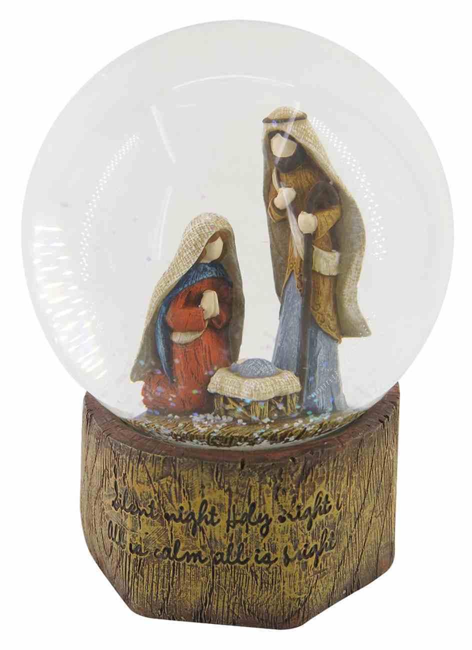 Resin Wood Look Holy Family Waterglobe Homeware