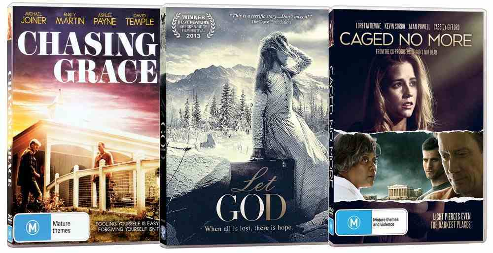 Movie Triple Pack #01 (Chasing Grace/caged No More/let God) DVD