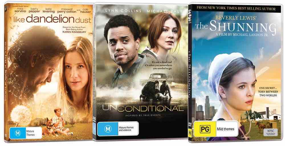 Movie Triple Pack #03 (Unconditional/like Dandelion Dust/the Shunning) DVD