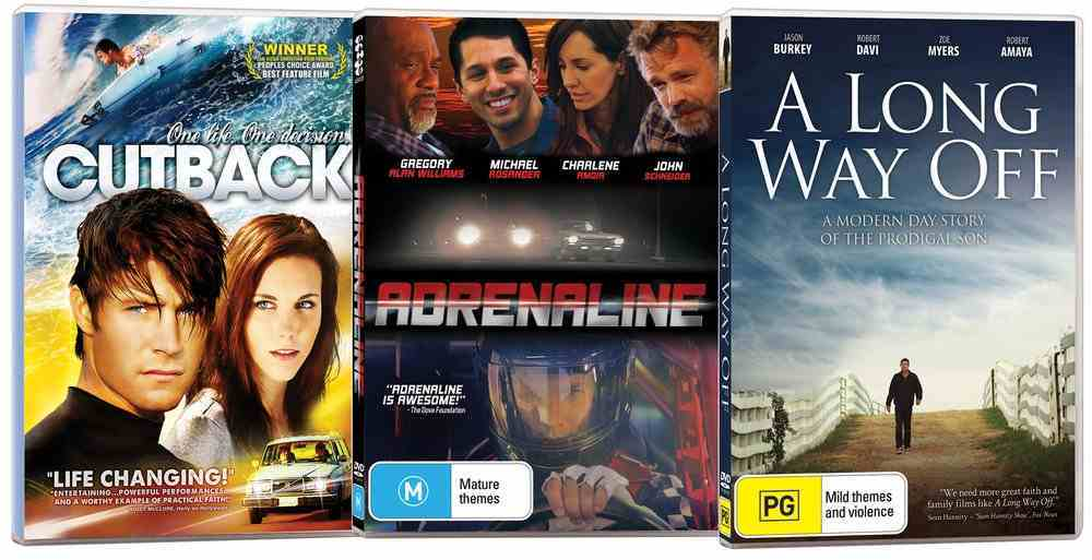 Movie Triple Pack #04 (Adrenaline/a Long Way Off/cutback) DVD