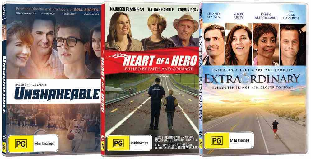 Movie Triple Pack #06 (Unshakeable/extraordinary/heart Of A Hero) DVD