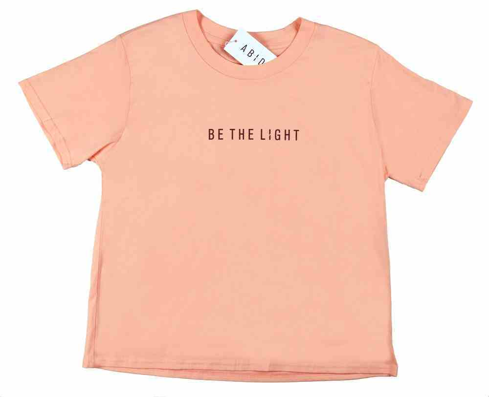 Womens Cube Tee: Be the Light, Xsmall, Pale Pink With Black Metallic Print (Abide T-shirt Apparel Series) Soft Goods