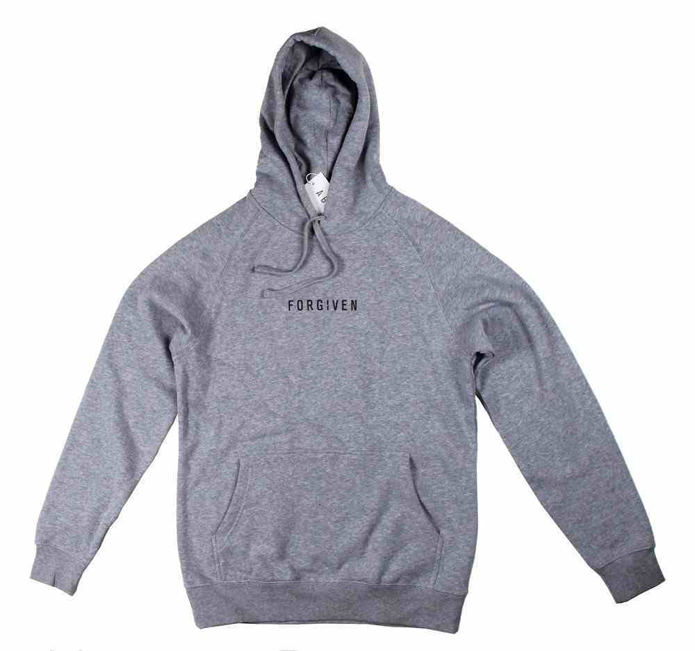 Supply Hood: Forgiven, Large, Grey Marle With Black Print (Abide Hoodie Apparel Series) Soft Goods