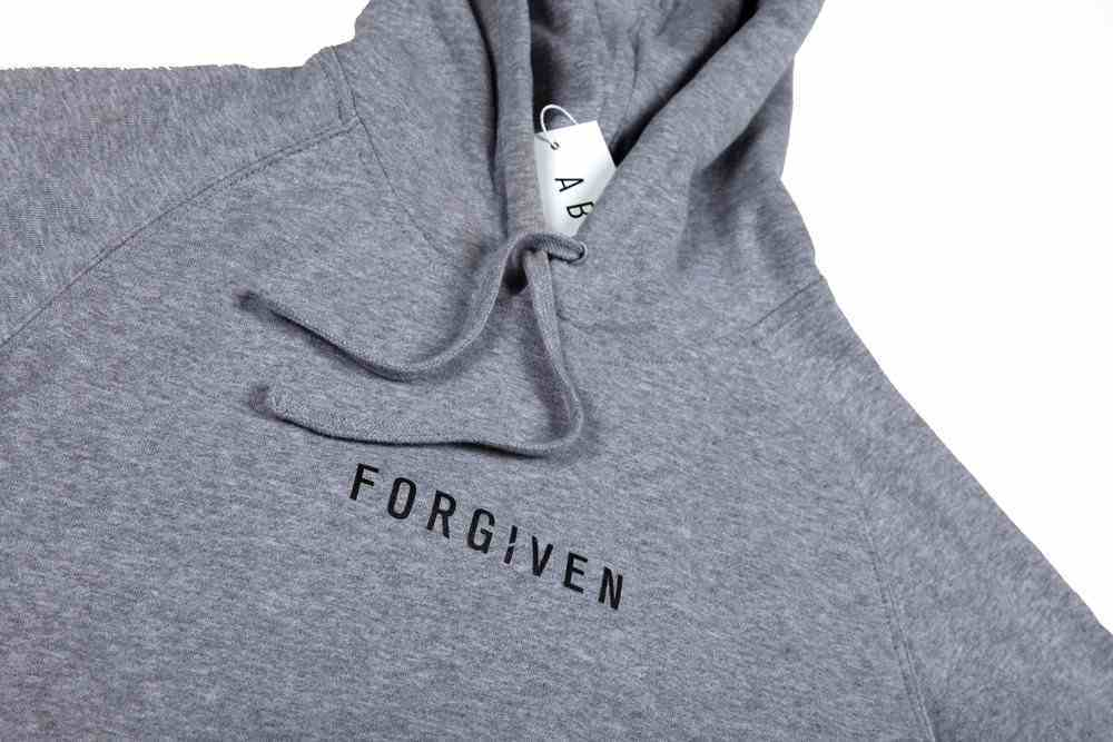 Supply Hood: Forgiven, Xlarge, Grey Marle With Black Print (Abide Hoodie Apparel Series) Soft Goods