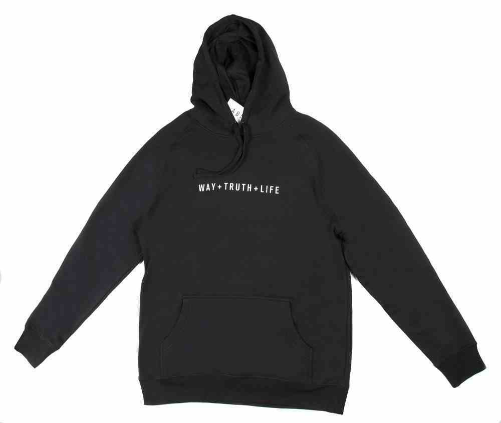 Supply Hood: Way+Truth+Life, Medium, Black With White Print (Abide Hoodie Apparel Series) Soft Goods
