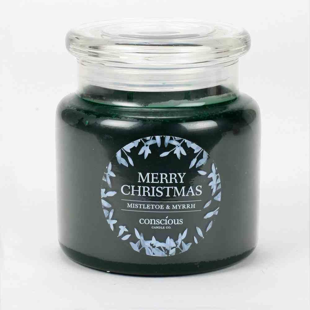 Christmas Candle Green: Merry Christmas, Jesus is the Reason, Mistletoe & Myrrh Homeware