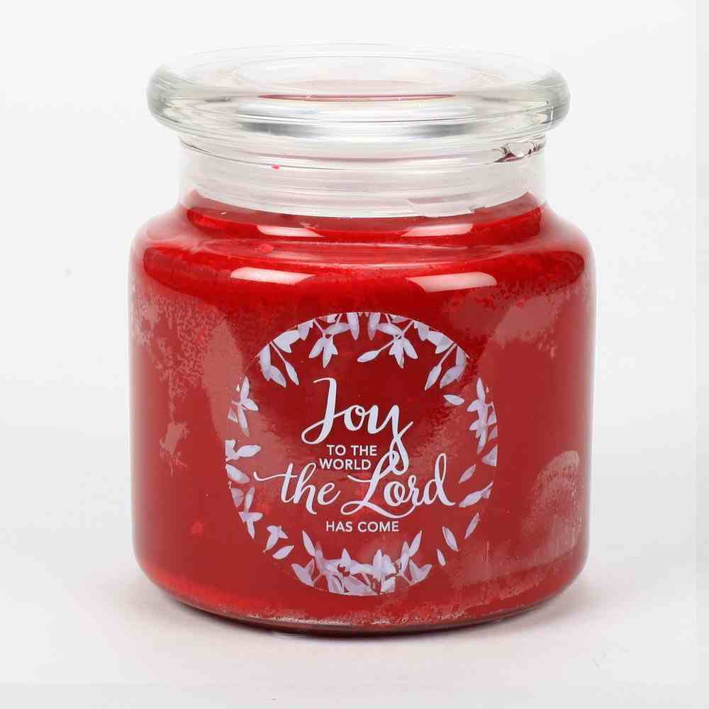 Christmas Candle Red: Merry Christmas, Joy to the World, Cinnamon & Vanilla Homeware