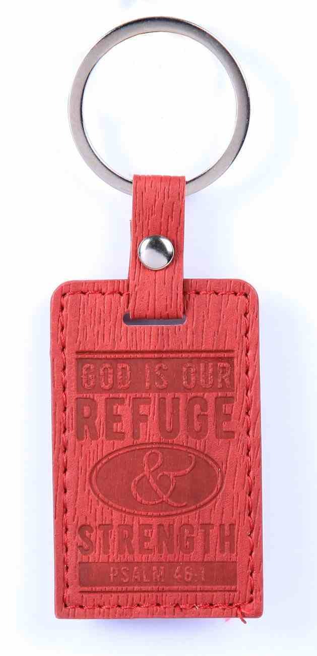 Lux Keyring: God is Our Refuge & Strength, Psalm 46:1 Jewellery