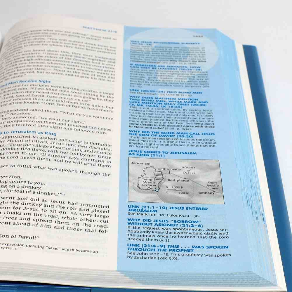 NIV Quest Study Bible Teal Premium Imitation Leather