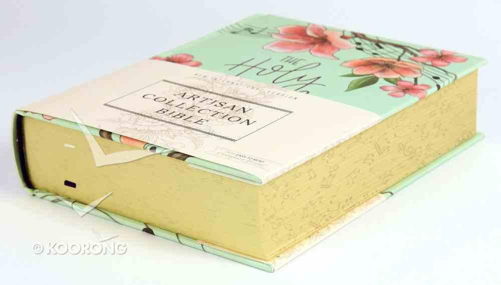 NIV Artisan Collection Bible Teal Floral (Red Letter Edition) Hardback
