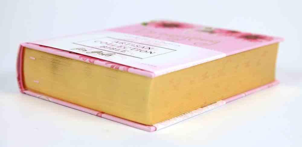 NIV Artisan Collection Bible For Girls Pink Daisies Designed Edges Under Gilding Comfort Print (Red Letter Edition) Hardback