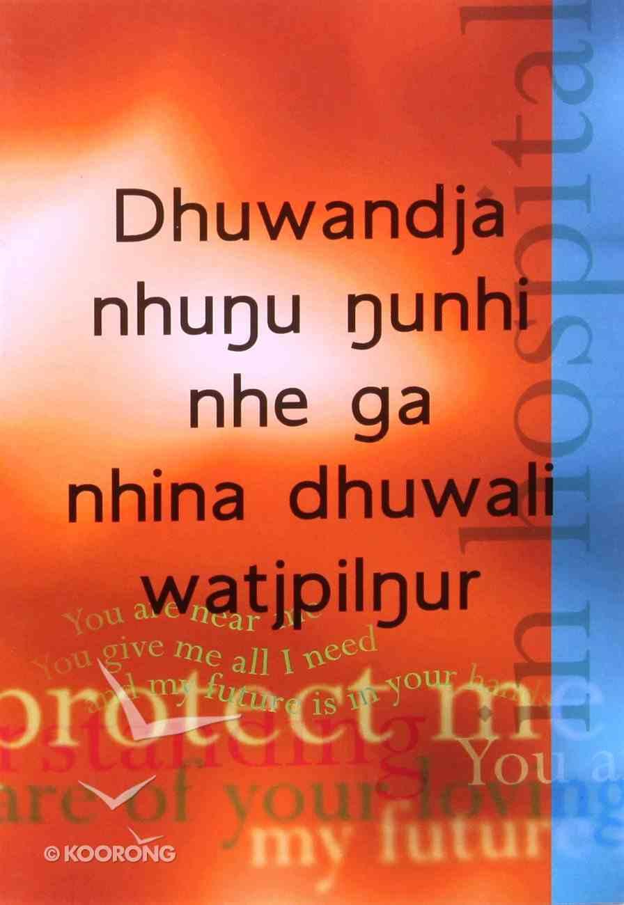 For You in Hospital (Djambarrpuyngu) Booklet