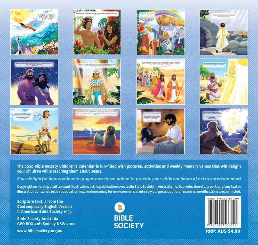 2020 Kids Calendar: Great Bible Adventures Calendar