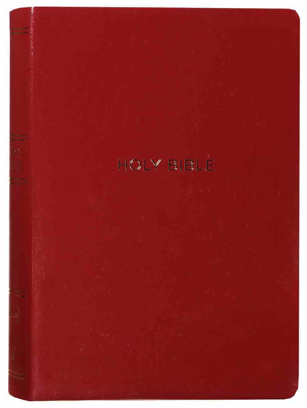 NKJV Reference Bible Giant Print Burgundy Indexed (Red Letter Edition) Imitation Leather