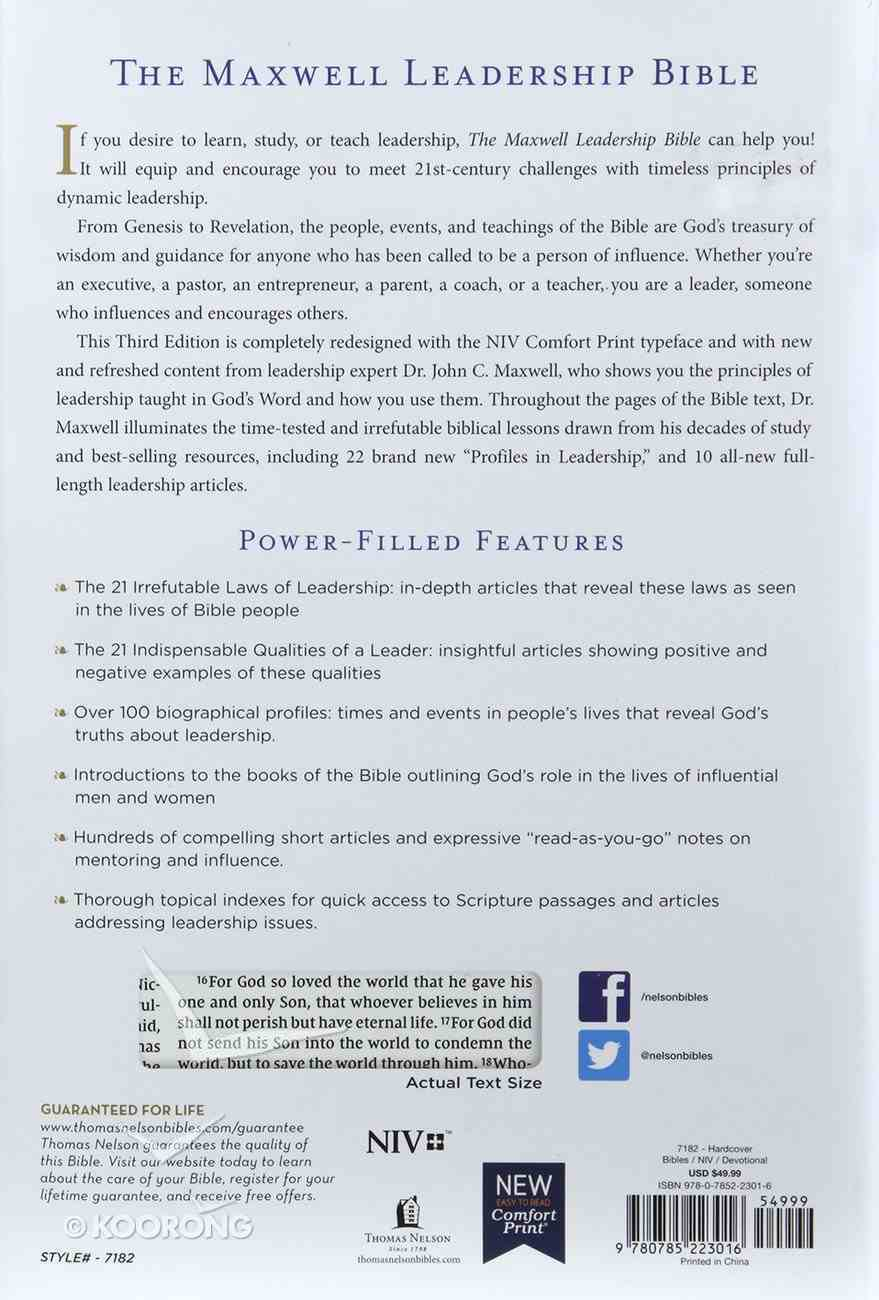 NIV Maxwell Leadership Bible 3rd Edition Hardback