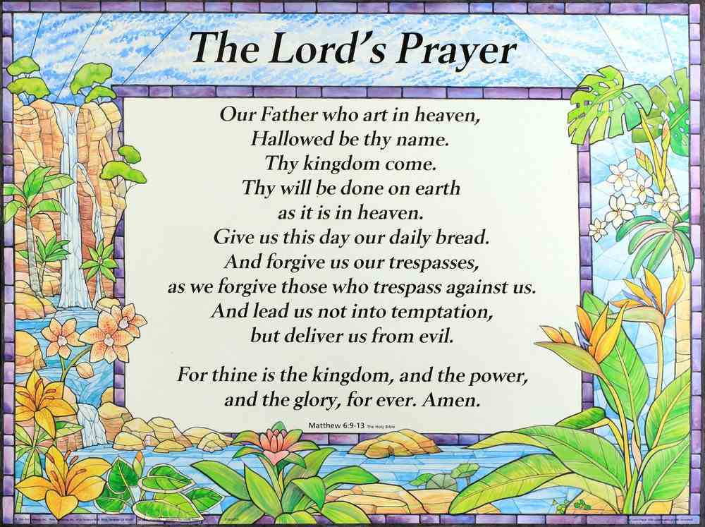 Wall Chart: Lord's Prayer-Trespasses (Laminated) Chart/card