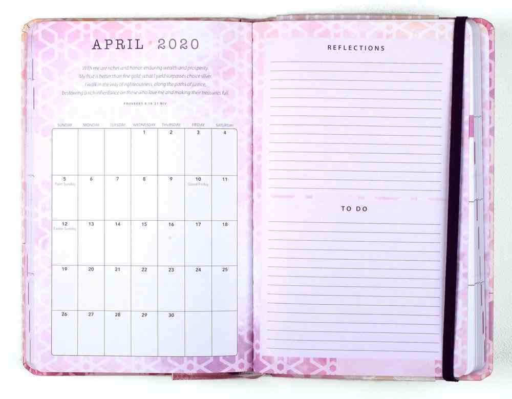 2020 16-Month Weekly Diary/Planner: Commit to the Lord, Purple/White Patter, Proverbs 16:3 Hardback