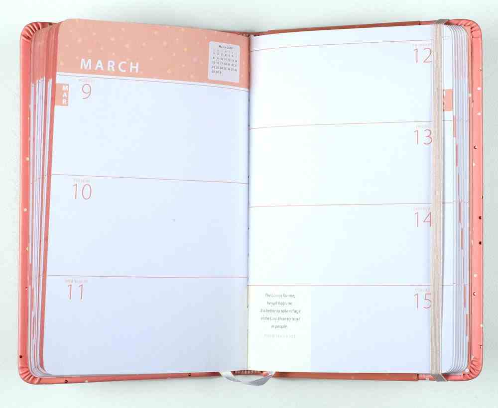 2020 16-Month Weekly Diary/Planner: Whatever is Lovely, Pink/White Dots (Faux) Imitation Leather