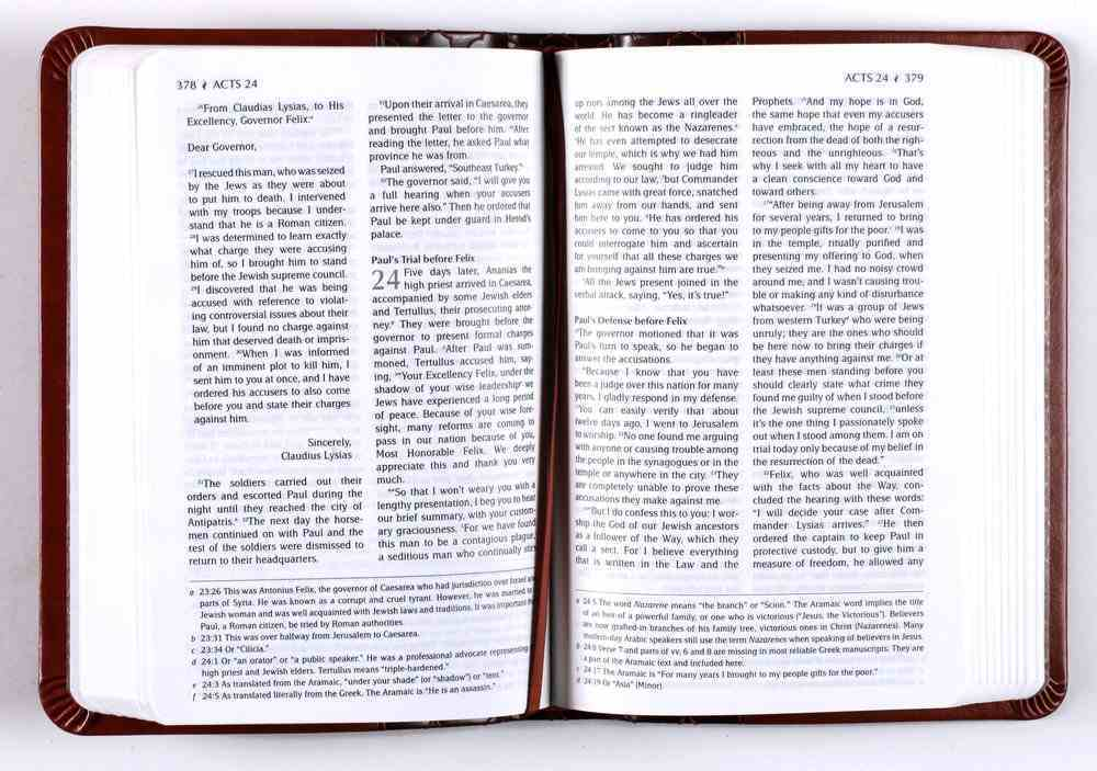 TPT New Testament Compact Brown (With Psalms, Proverbs, And Song Of Songs) Imitation Leather
