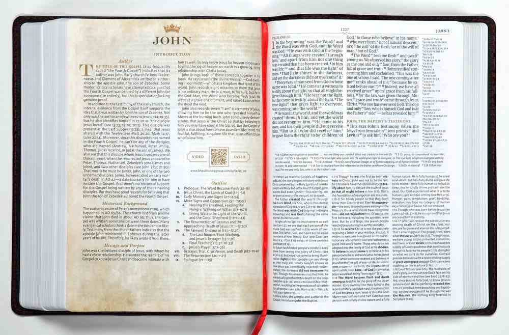 CSB Tony Evans Study Bible Black (Black Letter Edition) Genuine Leather