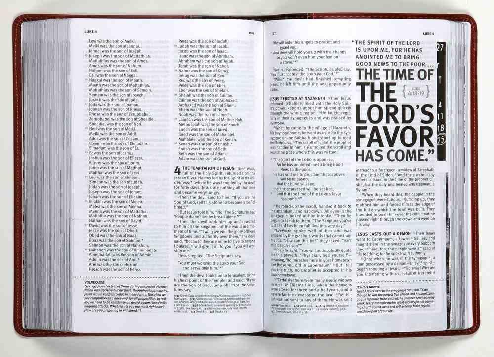 NLT Teen Life Application Study Bible Teal (Black Letter Edition) Imitation Leather