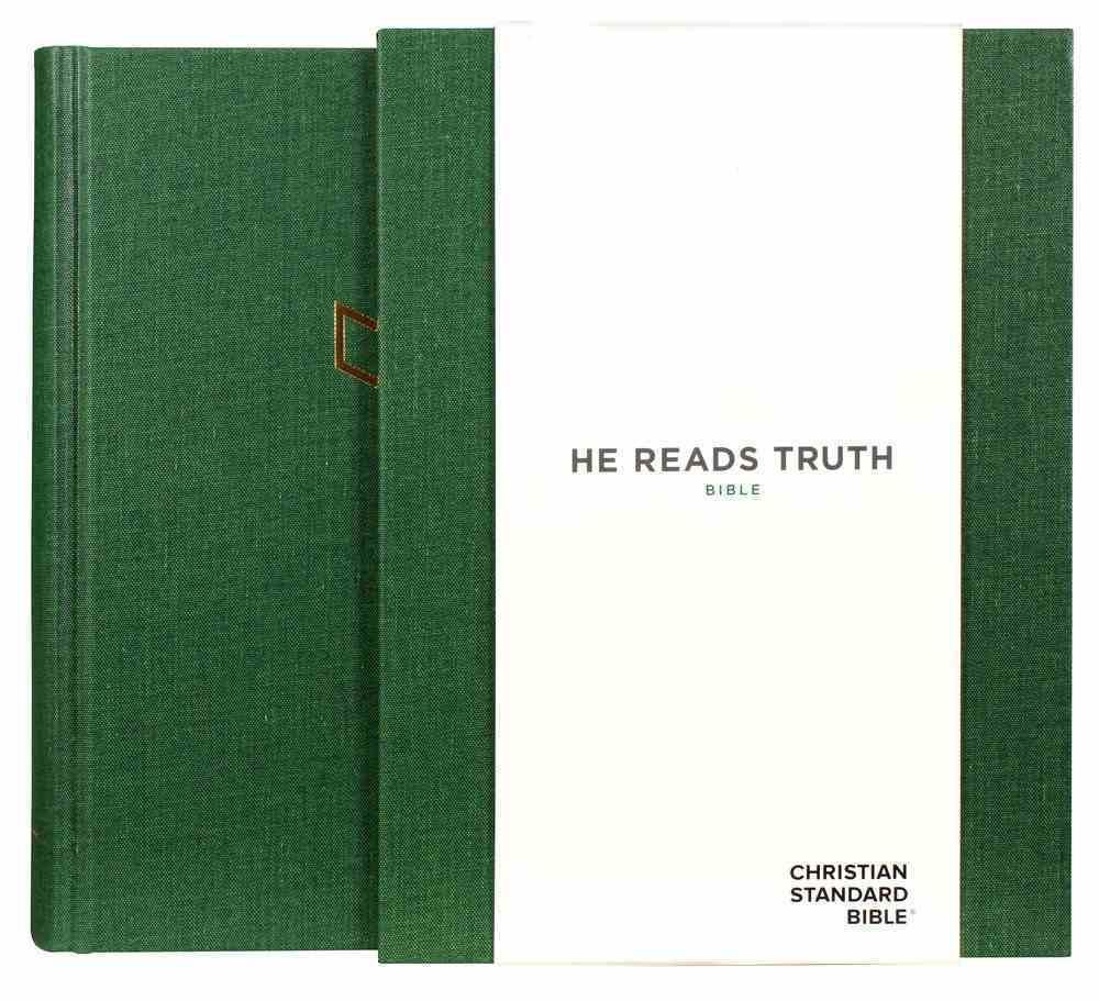 CSB He Reads Truth Bible Green Hardback