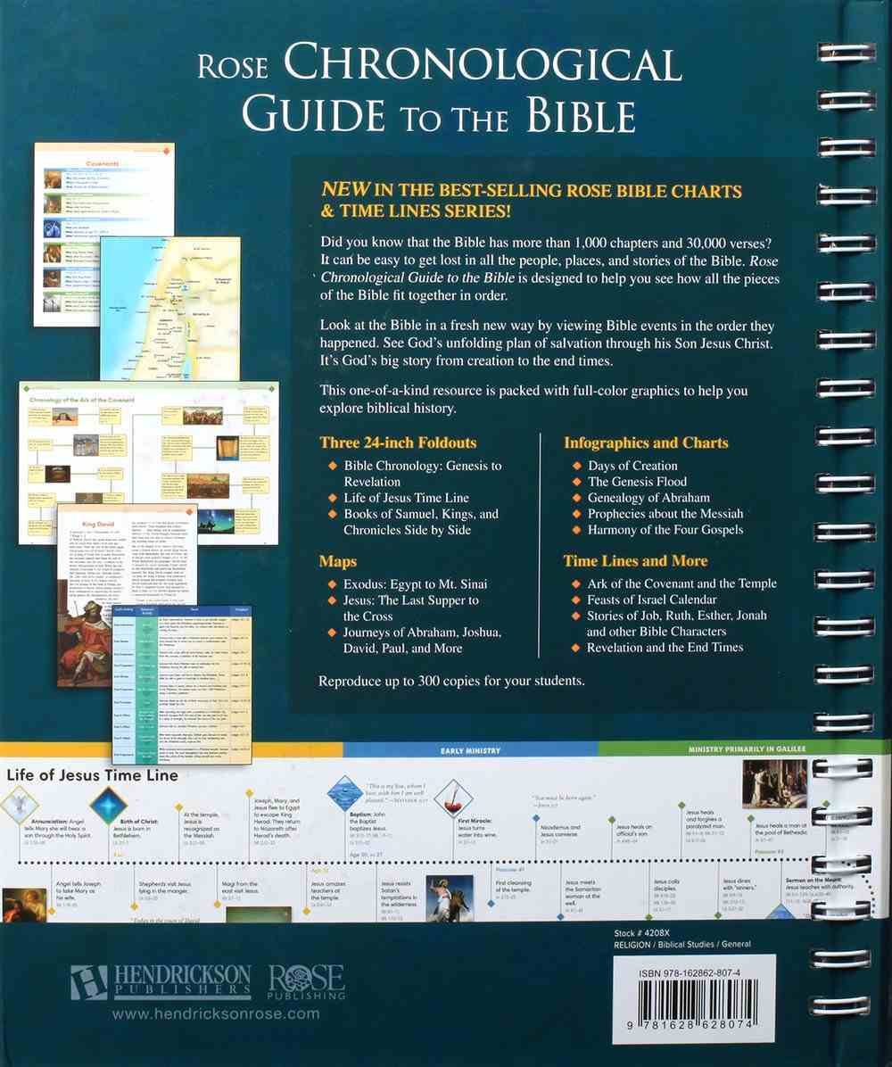 Rose Chronological Guide to the Bible (Rose Bible Charts & Time Lines Series) Hardback