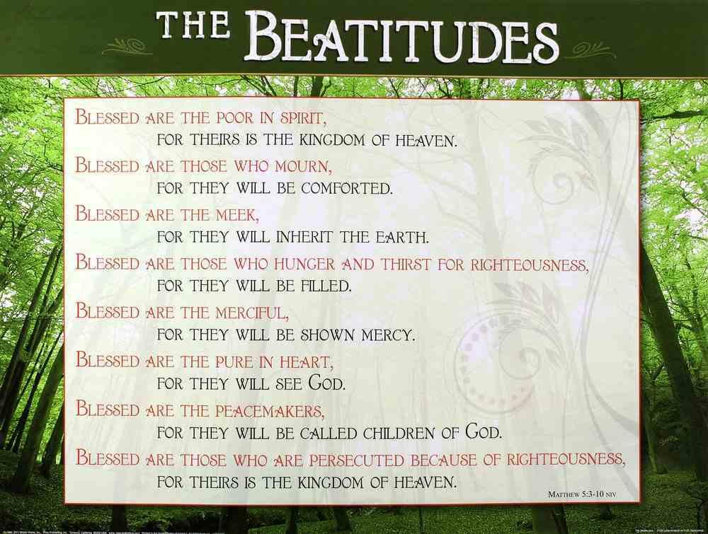 Wall Chart: The Beatitudes (Laminated) Chart/card
