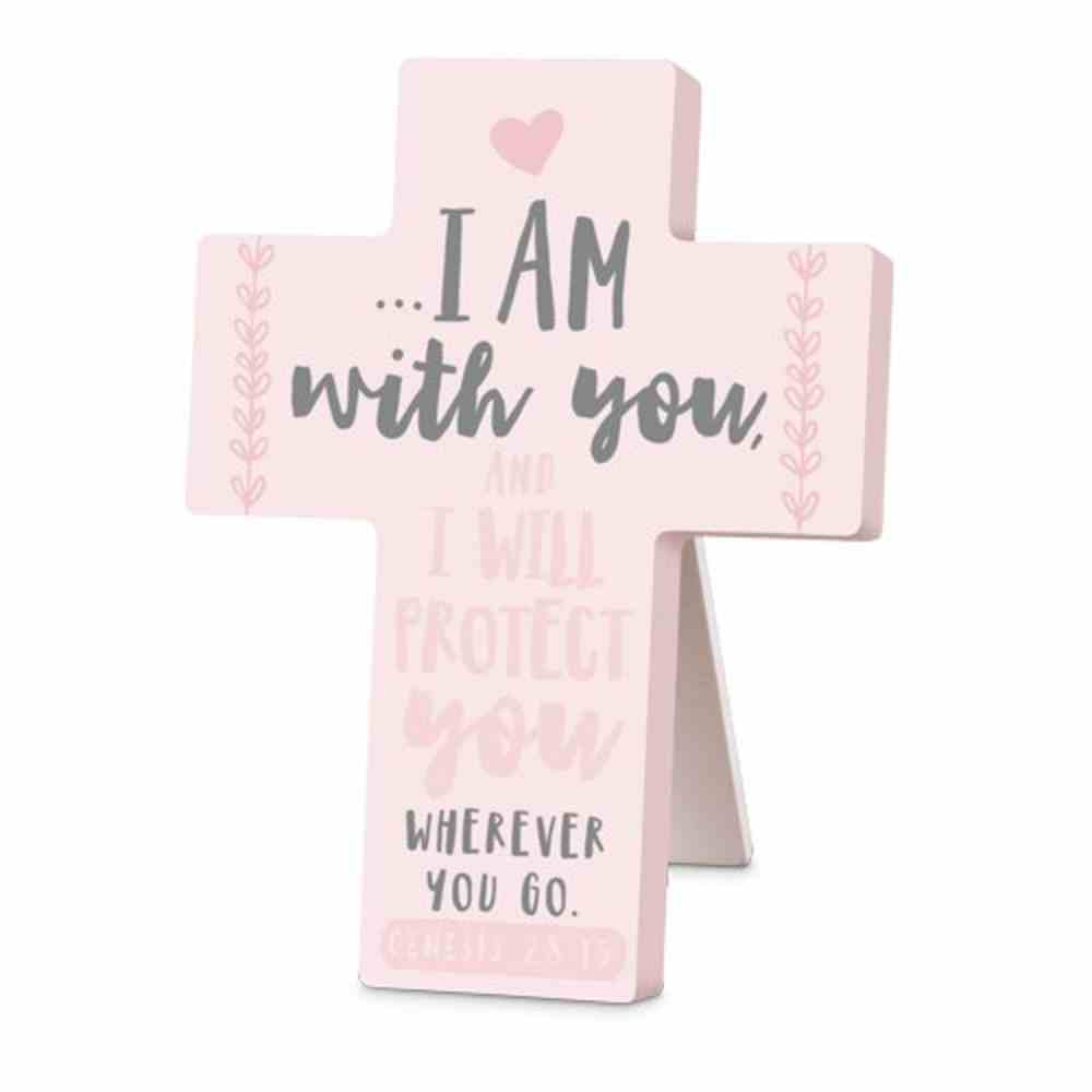 Cross Little Adventurer: I Am With You and I Will Protect You, Pink (Genesis 28:15) Homeware