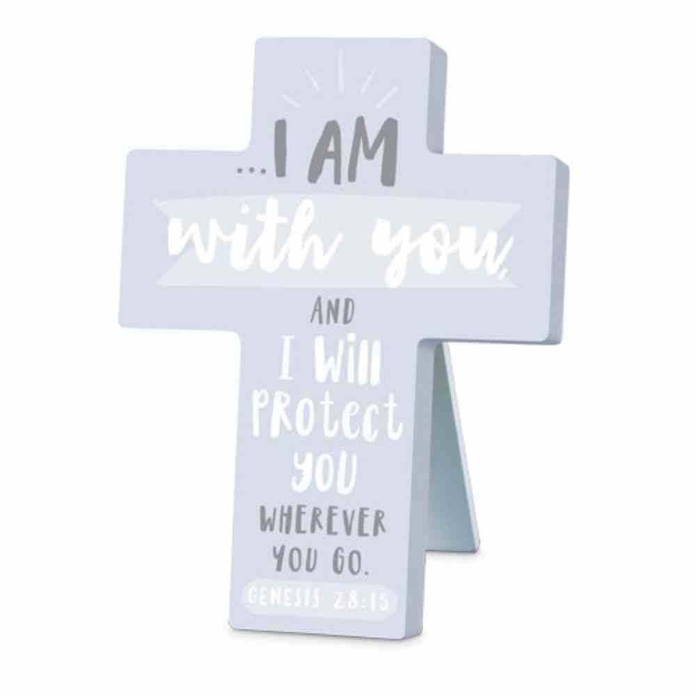 Cross Little Adventurer: I Am With You and I Will Protect You, Blue (Genesis 28:15) Homeware