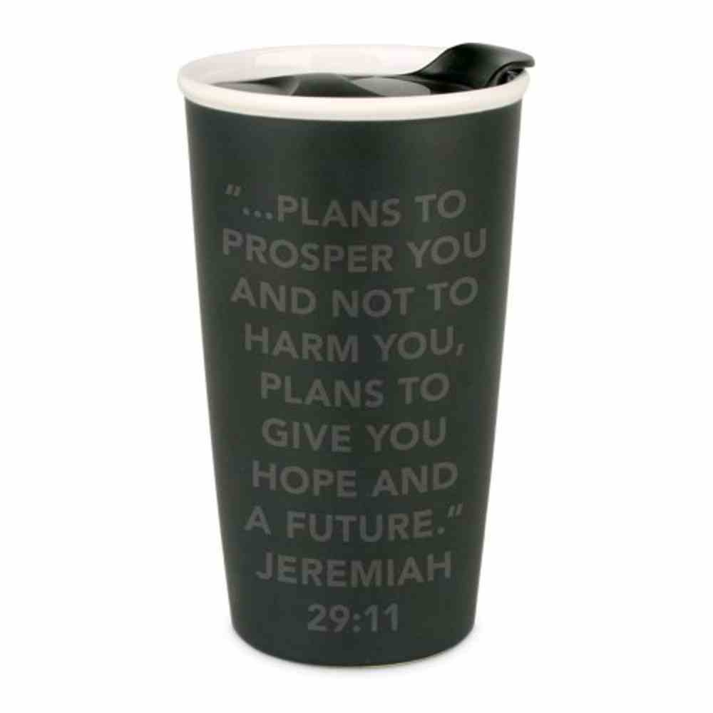 Ceramic Tumbler Mug: Simple Truth Believe, Black/White (Jeremiah 29:11) Homeware
