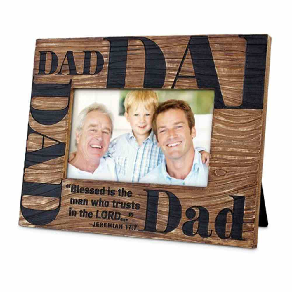 Cast Stone Photo Frame: Blessed Dad (Jeremiah 17:7) Homeware