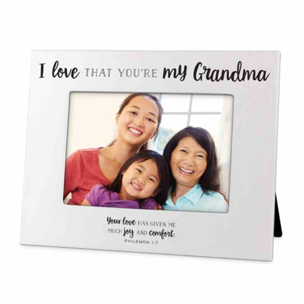 Photo Frame: I Love That You're My Grandma, White Mdf (Philemon 1:7) Homeware